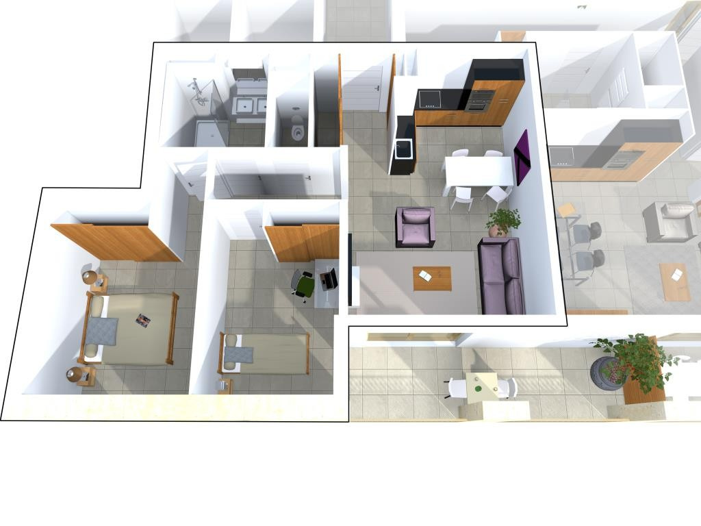 programme neuf avenue jean jaures Nimes appartement type 3 type 4 terrasse garage (5)