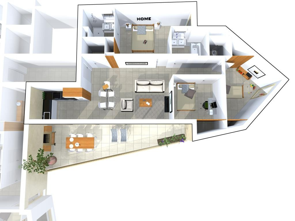 programme neuf avenue jean jaures Nimes appartement type 3 type 4 terrasse garage (6)